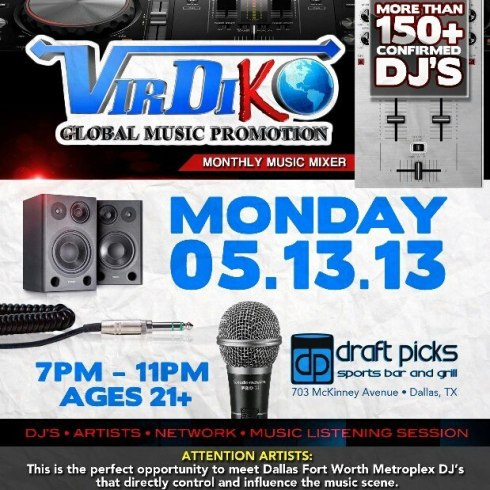 Draft Picks Dallas and VirdiKO Monthly Music Mixer