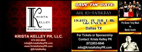 SAVE THE DATE: Saturday, AUG. 10-Fights at the Fair Grounds II in Dallas, TX